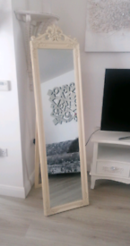 Full length free standing mirror