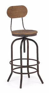INDUSTRIAL WOODEN SEAT BAR STOOL COUNTER STOOL Peterborough Peterborough Area image 1