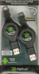 *NEW*Retractable Micro USB Data Charge Cable Tablet Cell Phone
