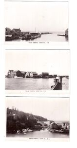 3 cartes postales photo Halls Harbour, Kings Co. Nouvelle Écosse