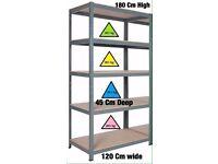 Heavy Duty Metal Bolt less Shelves, Racking Size 180cm High 120Cm Wide 45cm Deep New