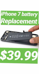 iphone 7 battery replacement $39.99