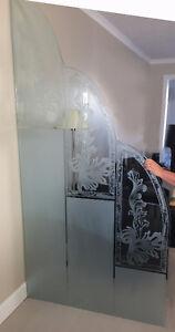 Vitre décorative et console en verre trempé