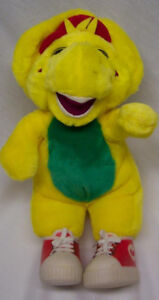 Barney the Dinosaur BJ The Yellow Dinosaur  Plush Stuffed Animal