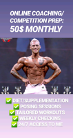 ONLINE COACHING SERVICES AND BODYBUILDING PREP
