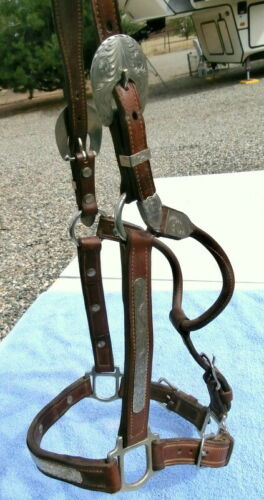 Champion Double Ply Leather Horse Show Halter with Silver Buckles