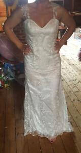 Stunning detailed wedding dress
