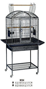 BRAND NEW Beautiful Parrot Bird Cage With Open Top & Stand