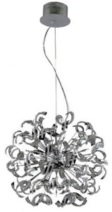 Tiffany Light - Globe Chandelier with Clear Crystals