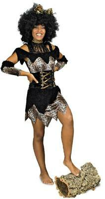 Afrikanerin Neandertalerin Urwald Steinzeit Höhlen Dschungel Kostüm Kleid - Kostüm Schwarzen Menschen