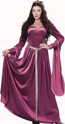 Lady Guinevere Costume Dress Adult Renaissance Queen Medieval Princess Berry](Medieval Queen Costume)