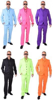 Disco Anzug Kostüm Herren 50er 60er Jahre Party Smoking Rock n Roll Discokostüm (60er Jahre Herren)
