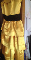 BCBG yellow dress, $50 or best offer, never worn out