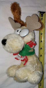 Plush Reindeer Oddie from Garfield Toy with Antlers and Scarf