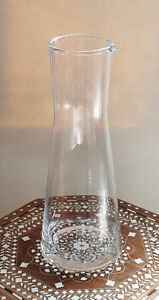 "12"" CLEAR GLASS DECANTER,CARAFE, VASE, BOTTLE WITH LIP London Ontario image 1"
