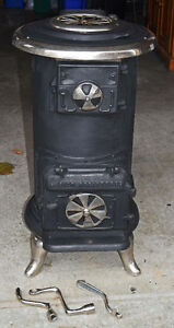 Antique Wood Burning Parlour Stove