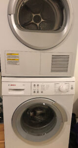 Stacking Apartment Size Washer & Dryer- Bosch Axxis