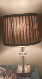 Small bedside or hall table light with shade