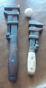 Two Very Old Pipe Wrenches