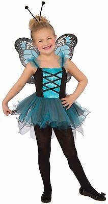 blue Fluttery Butterfly kids girls Halloween costume](Blue Butterfly Halloween Costumes)