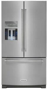 """KitchenAid KRFF507ESS 36"""" French Door Refrigerator"""