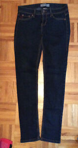 Womens' Ladies' skinny denim jeans! Dark wash/distressed