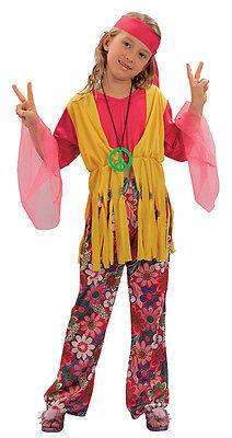 # Kinder Hippy 1970s Komplettes Outfit Kostüm Hippie Jedes - 1970 Kostüm Kinder