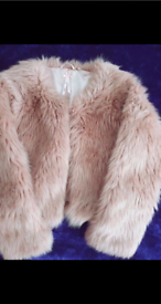 Next Faux Fur Coat Age 9