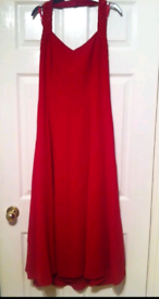 Red floor length dress size 16