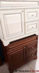 SALE !!! SOLID WOOD BATHROOM VANITY / CABINETS, SINKS and TOPS
