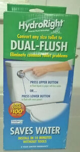 HydroRight Dual-Flush Toilet Converter Water Saver