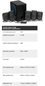 Creative labs Inspire T5400 5.1 speakers