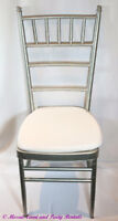 Silver Chaivarie /Golden Tiffany Chairs Rentals