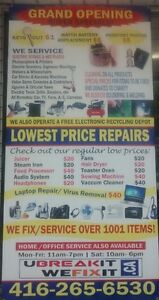 Sewing machine repair only $20 labor