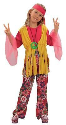 HIPPIE GIRL MEDIUM, HIPPIE MÄDCHEN 70ER JAHRE KOSTÜM, - Mädchen Hippie Girl Kostüme