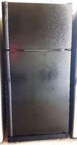GE Black 18 Cubic Foot Top Mount Refrigerator Freezer