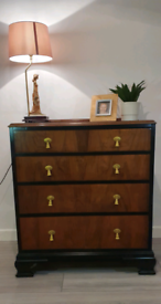 4 Drawer wooden chest of drawers