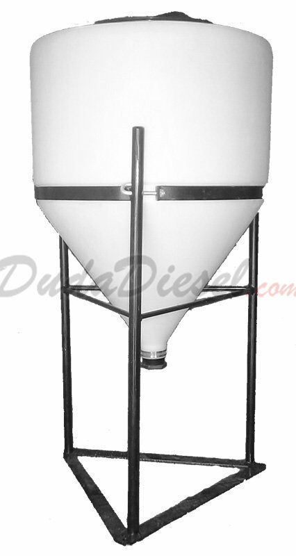 15 Gallon Cone Bottom Tank Full Drain w/ steel Stand