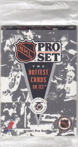 1991 Pro Set Hockey Promo Sealed Pack 6 Cards NHL Hockey