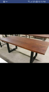 Price Reduced!! Brand new Live Edge solid wood dining table!