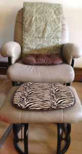 Recliner chair and foot rest (comfortable and relaxing)