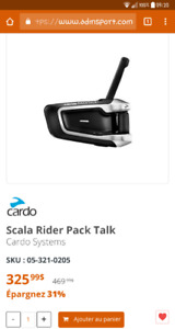 "Scala Rider Packtalk "" Neuf """