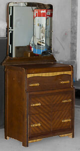 ~  ANTIQUE  DRESSER w/MIRROR FOR SALE  ~