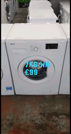 Beko 7kg washing machine free delivery in Leicester 01