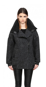 NEW MACKAGE Chunky Wool Coat Manteau Laine SMALL