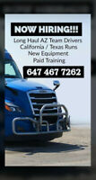 AZ Team Truck Drivers for cross border long hauls