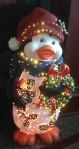 Fiber Optic Christmas Penguin