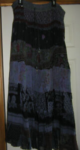 Vintage  8 Tier Skirt  100% Cotton made in India