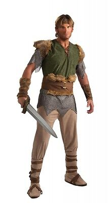 Valiant Viking Warrior Medieval Barbarian Fancy Dress Up Halloween Adult Costume