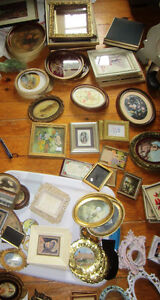 Victoria County Buffet, Vintage Picture Frames, Unknown Artists